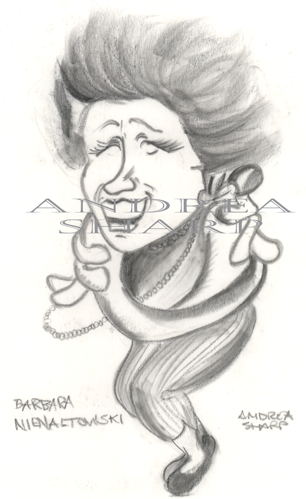 Caricature, Lady from New York - Charcoal on vellum
