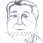 Caricature, Jay Leno - Pencil