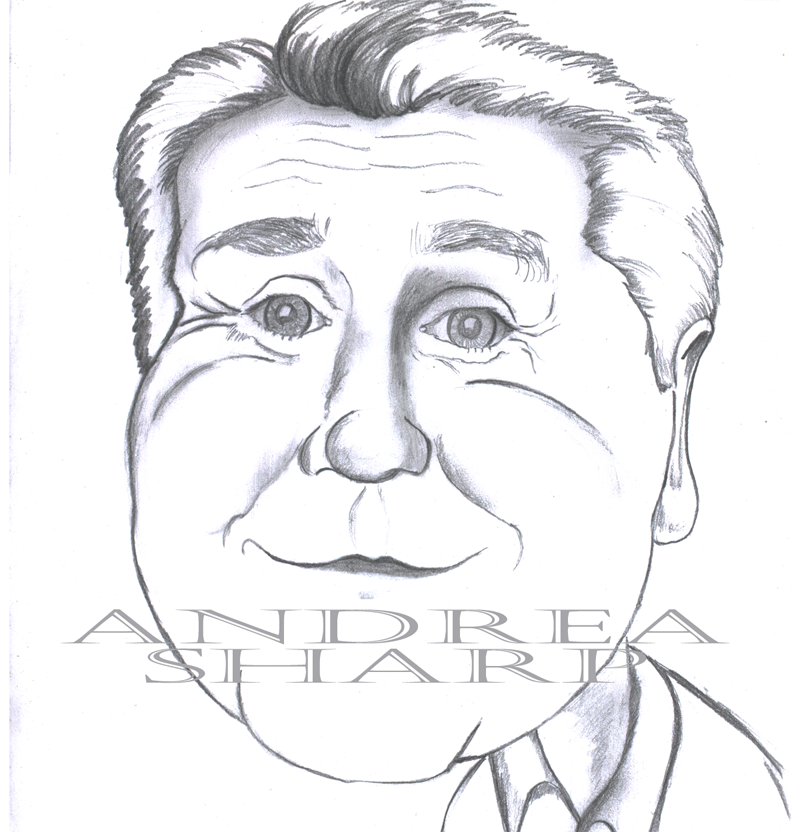 Caricature, Jay Leno - Pencil