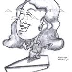 Caricature, Kathy Bates - Charcoal