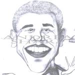 Caricature, Obama - Pencil