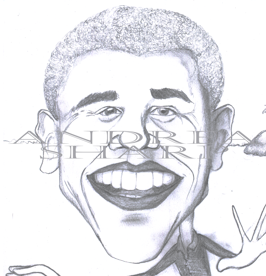 Caricature, Obama - Pencil