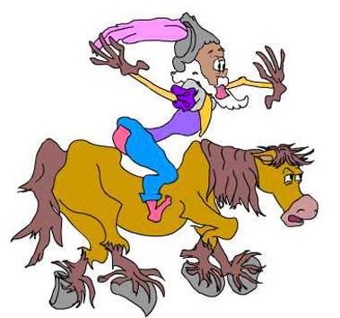 Cartoon, Don Quixote - Pencil and Flash (Vector)