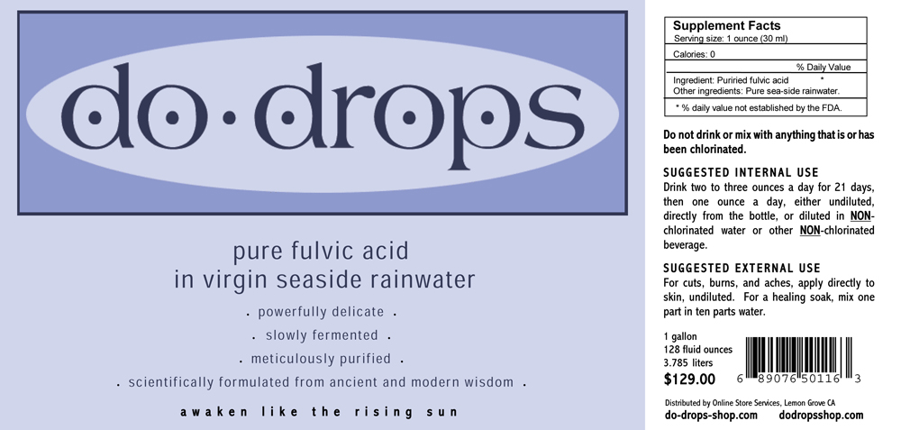 Product Label, Do Drops