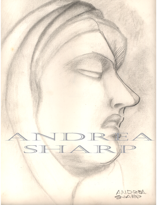 Studio Drawing, Madonna Statue - Pencil