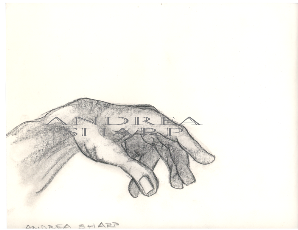 Studio Drawing, Michelangelo Study - Charcoal