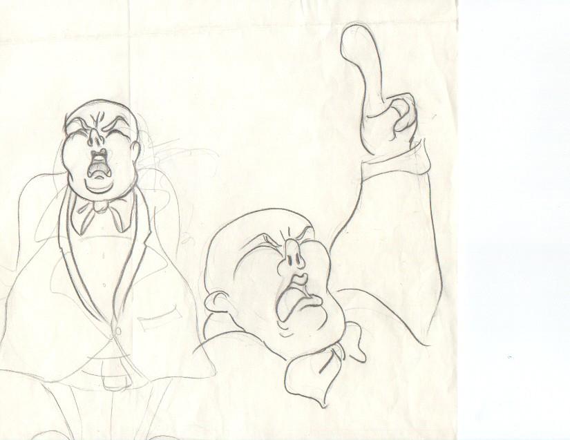Cartoon, Politician - Pencil