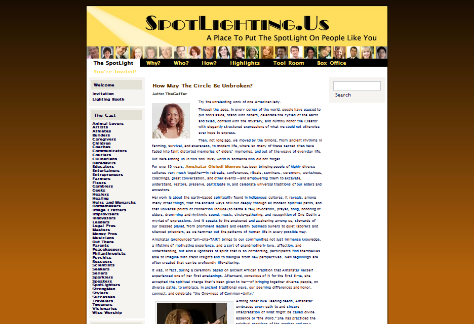 SpotLighting.Us - Web Site (WordPress)