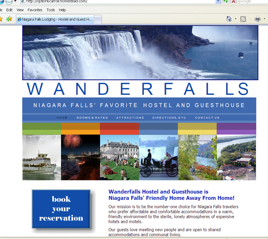 Wanderfalls - Web Site (inspired by a template)