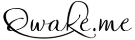 Qwake.me - Web Site Banner, Branding, Logo